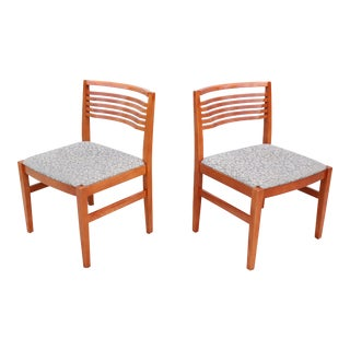 1990s Vintage Joseph and Linda Ricchio for Knoll Studio Ricchio Armless Dining Chairs - a Pair For Sale