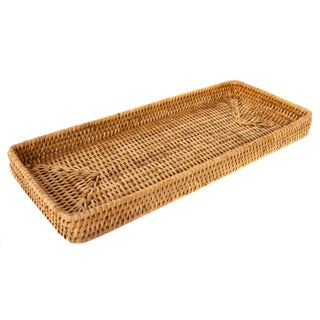 "Artifacts Rattan Rectangular Tray 14""x6""x2"" For Sale"