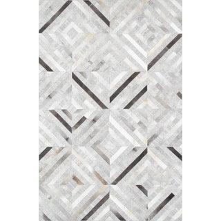 Pasargad Hand-Loomed Geometric Cowhide Rug- 9' X 12'