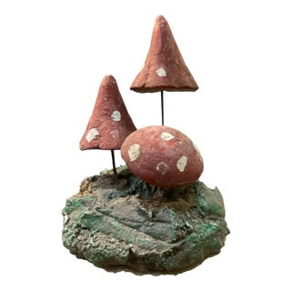 19th Century French Cement Mushroom Group For Sale