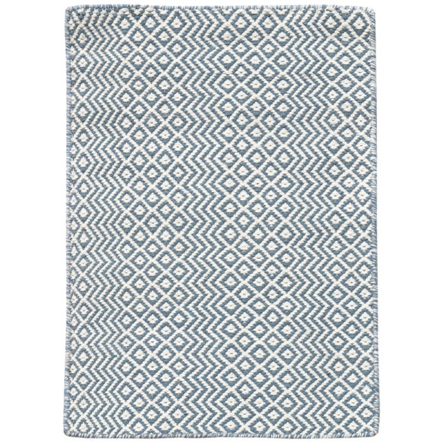Bella Modern Blue Hand-Woven Rug 8'x10' For Sale - Image 4 of 4