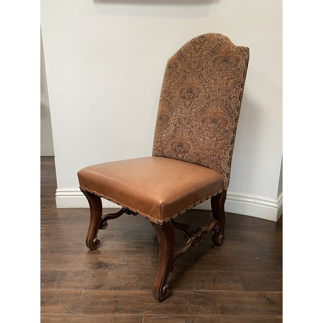 Vintage French Louis XV Style Dining Chairs - Set of 8 For Sale In Los Angeles - Image 6 of 13