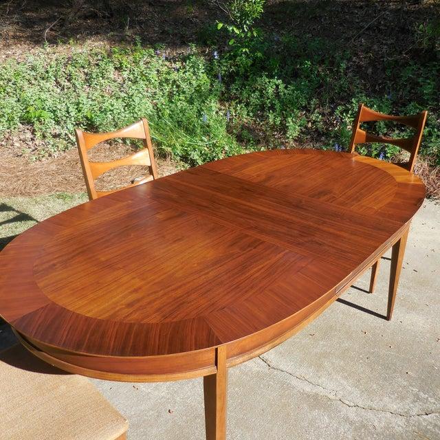 Mid-Century Lane Wood Dining Set - Image 7 of 9
