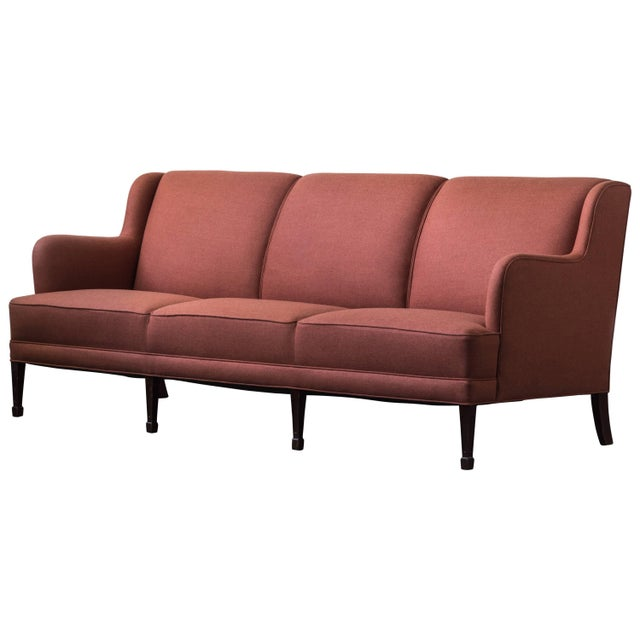 1930s Three-Seat Sofa by Frits Henningsen For Sale - Image 5 of 5