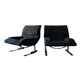 Onda Lounge Chairs by Giovanni Offredi for Saporiti - a Pair For Sale