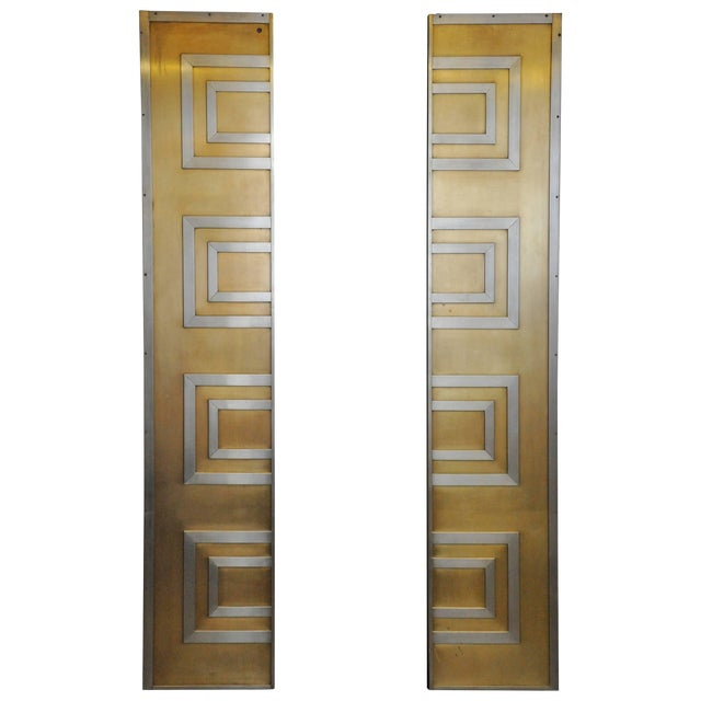 Glamorous Bronze and Stainless Entry Doors For Sale