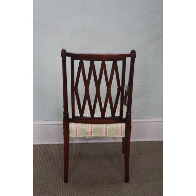 Beacon Hill Solid Mahogany Regency Style Arm Chair - Image 4 of 10
