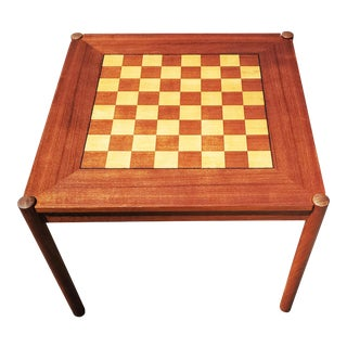 A Danish Modern Georg Petersens Reversible Side Table / Chest Table For Sale