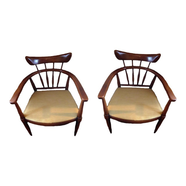 Handcrafted American Ash Captain Chairs - a Pair For Sale
