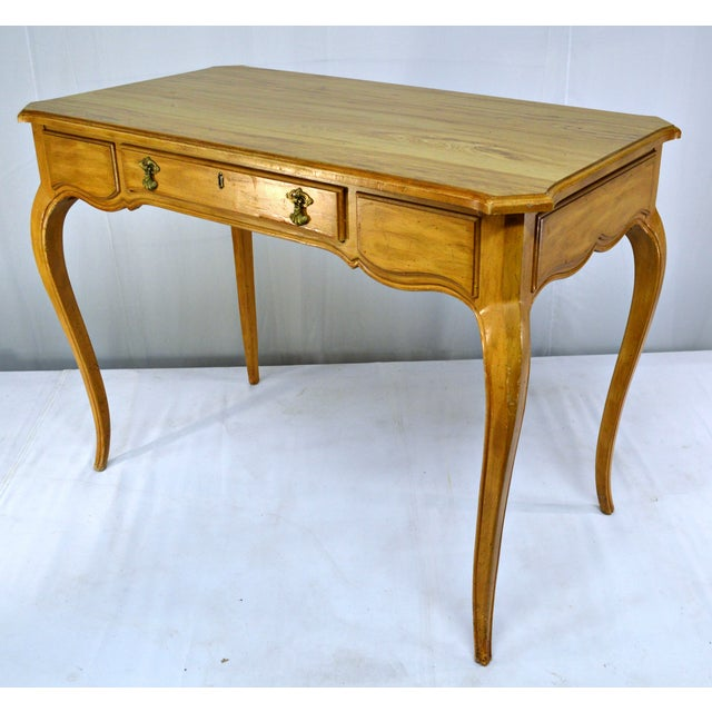 French-Style Cabriole Leg Writing Desk For Sale - Image 5 of 9