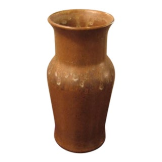 Brown Studio Pottery Vase by a.r.c. For Sale