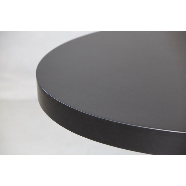 Modern Puristic Oak Center Table in New Black Finish, 1960s For Sale - Image 10 of 12