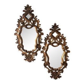 Mid 20th Century Giltwood Venetian Mirrors - a Pair For Sale