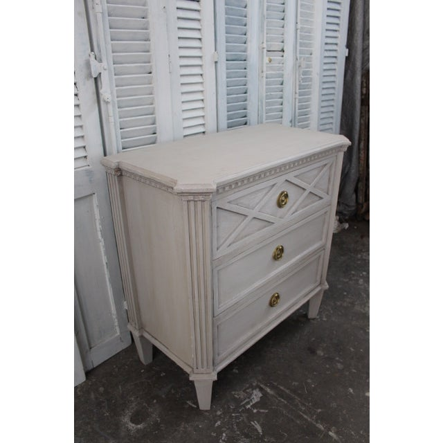 Mid 20th Century 20th Century Swedish Gustavian Style Nightstands - A Pair For Sale - Image 5 of 11