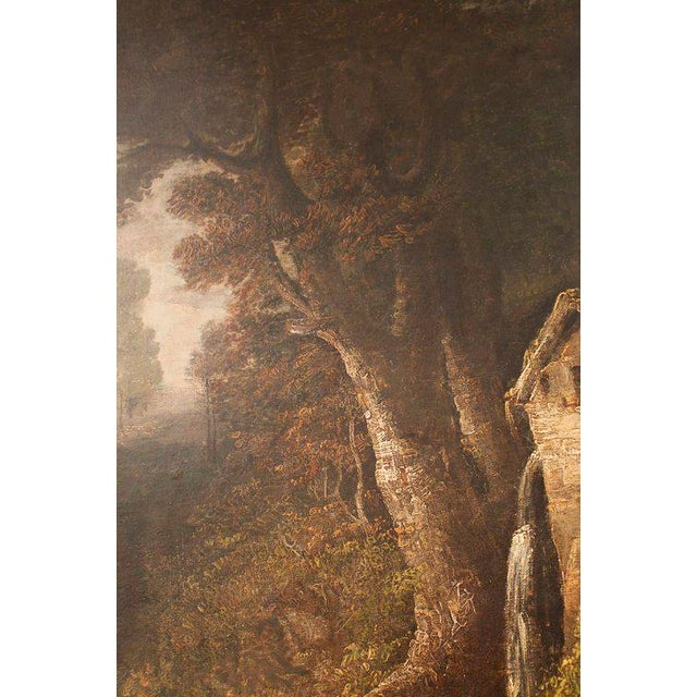 "19th Century ""Forest Mill"" Landscape Oil Painting on Canvas - Image 5 of 10"