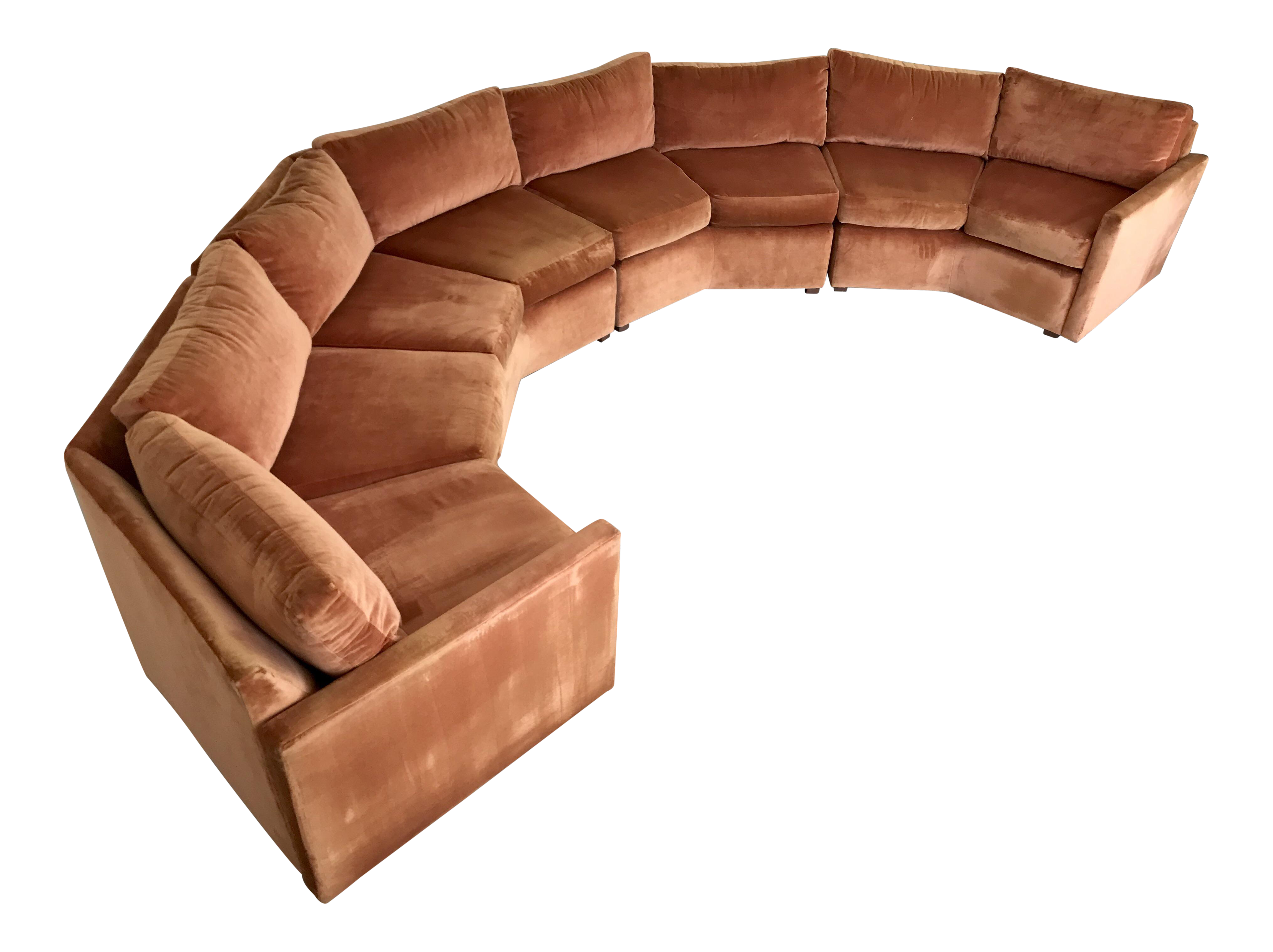 Miraculous 1970S Mid Century Modern Bernhardt Flair Curved Hexagon Sectional Sofa Caraccident5 Cool Chair Designs And Ideas Caraccident5Info