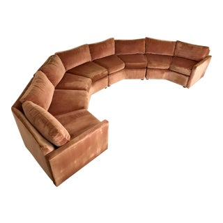 1970s Mid-Century Modern Bernhardt Flair Curved Hexagon Sectional Sofa