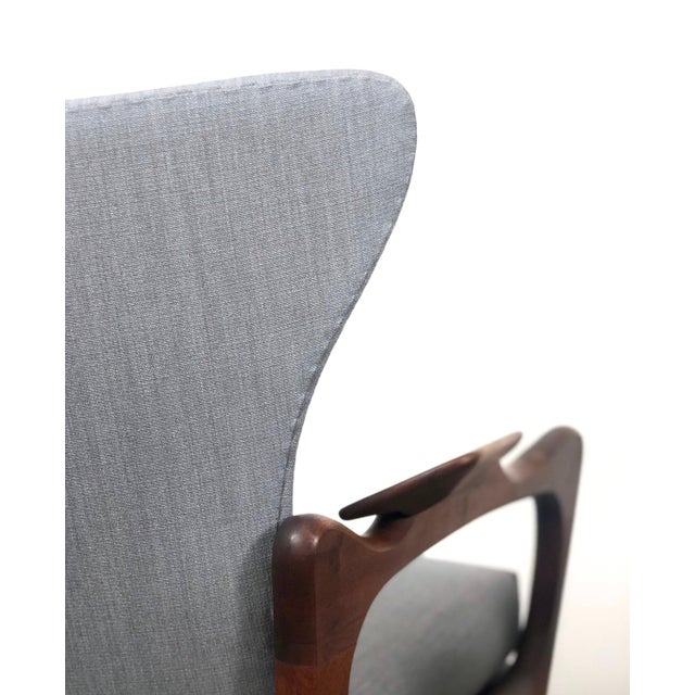 1960s Pair Adrian Pearsall for Craft Associates Wingback Lounge Chairs For Sale - Image 9 of 10