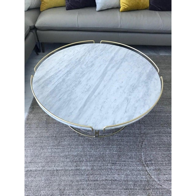 White The Bijou Coffee Table in Marble and Matte Gold by Roche Bobois, 2018 For Sale - Image 8 of 13