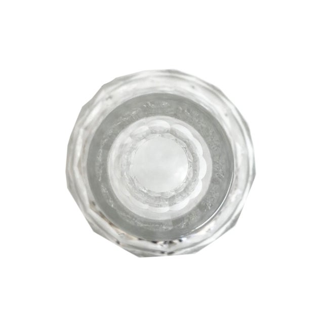 Mid-Century Modern Mid Century Faceted Glass Decanter with Stopper For Sale - Image 3 of 4