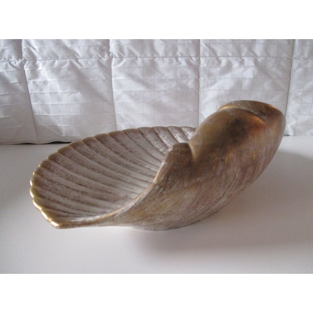 1980s Large Mid-Century Modern Shell Decorative Serving Dish For Sale - Image 5 of 7