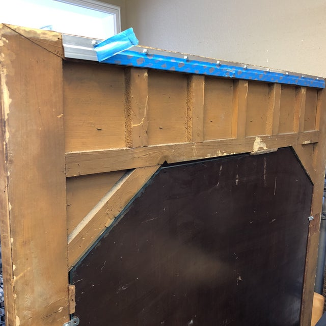 Antique French Wood & Plaster Mirror For Sale In San Francisco - Image 6 of 11