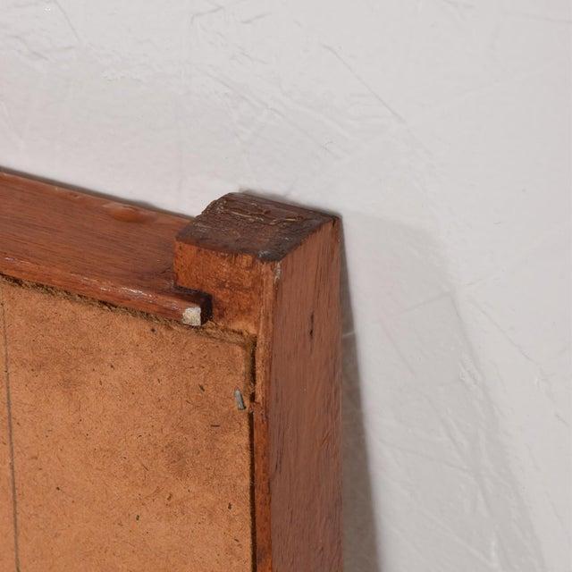 Brown Mid-Century Danish Modern Teak Mirror For Sale - Image 8 of 9
