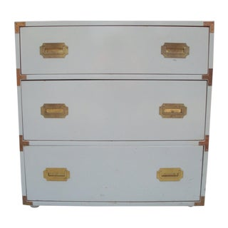 Dove Gray Campaign Chest of Drawers