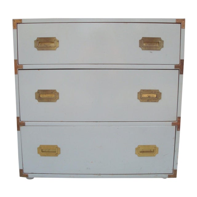 Dove Gray Campaign Chest of Drawers - Image 1 of 7
