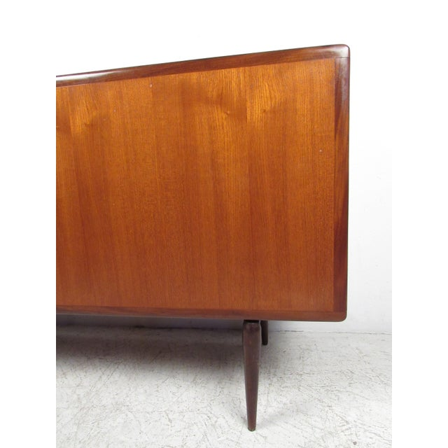 1970s Compact Scandinavian Modern Teak Cabinet For Sale - Image 5 of 13