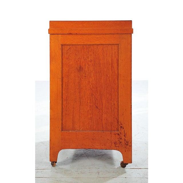 1930s Vintage Oak File Cabinet -2 Drawer - Image 7 of 9