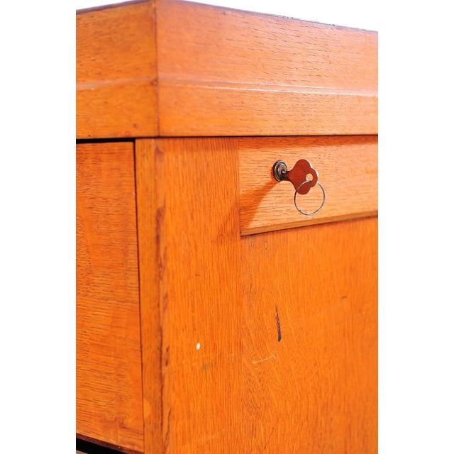 1930s Vintage Oak File Cabinet -2 Drawer - Image 9 of 9