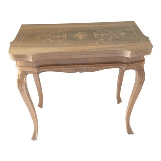 Vintage Italian Game Console Table For Sale