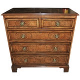 Image of 19th Century English Chest of Drawers in Bird's-Eye Maple For Sale