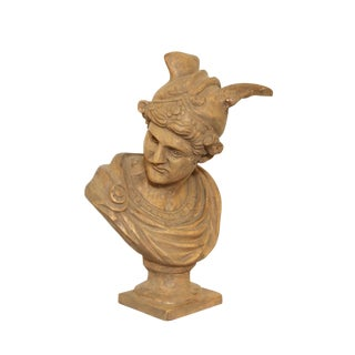 19th Century Carved Bust of Mercury For Sale
