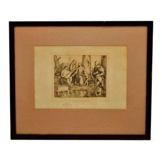 """1877 Amand Durand """"La Sainte Famille"""" Heliogravure Print For Sale"""