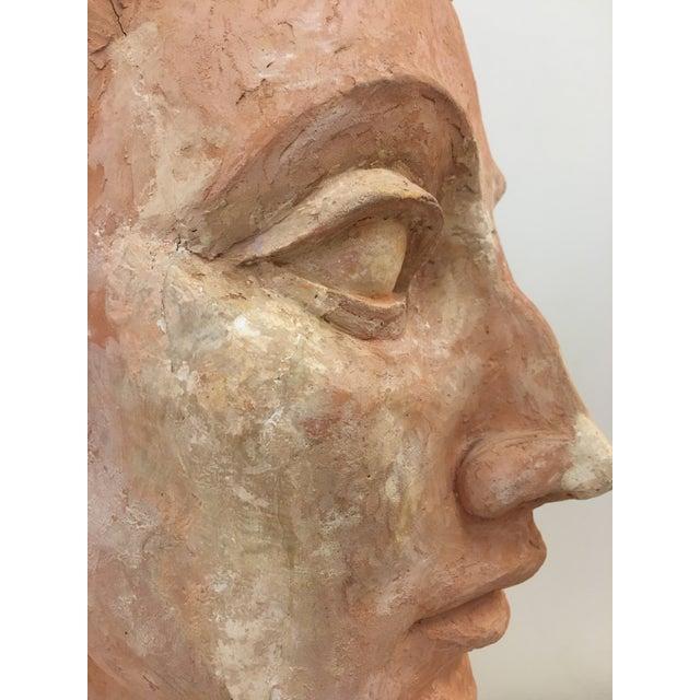 Vintage Plaster Female Bust For Sale - Image 11 of 13