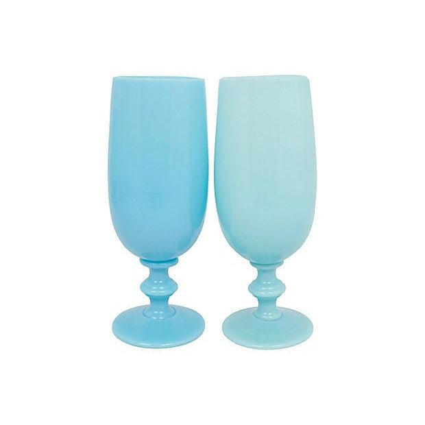 French Opaline Stemware, S/8 For Sale - Image 4 of 7
