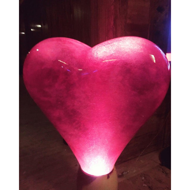 Pop Art Illuminated Love Glow Heart Statue For Sale - Image 3 of 4