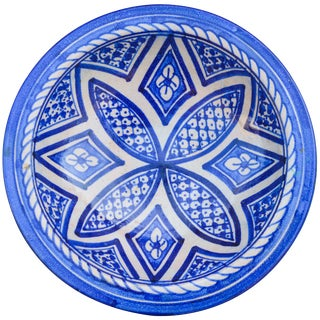 Ceramic Wall Plate W/ Moresque Pattern For Sale