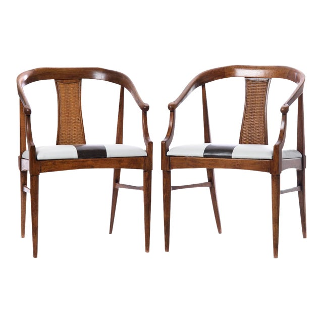 Vintage Mid-Century Wood Curved Back Chairs - A Pair - Image 1 of 4