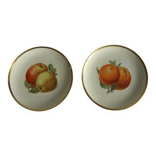 1950s Cottage German Porcelain Fruit Plates - a Pair For Sale