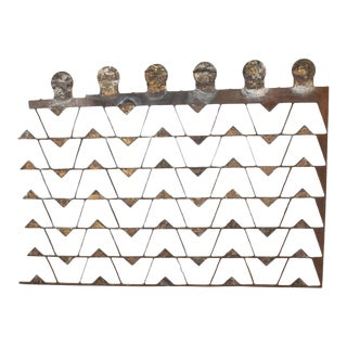 Mexican Modernist Metal Art Room Divider Screen For Sale