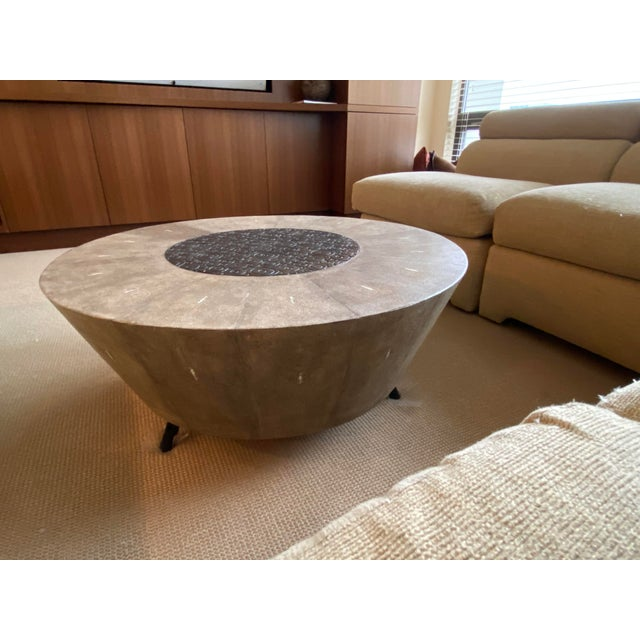 R&Y Augousti Contemporary Shagreen Coffee Table For Sale - Image 11 of 11
