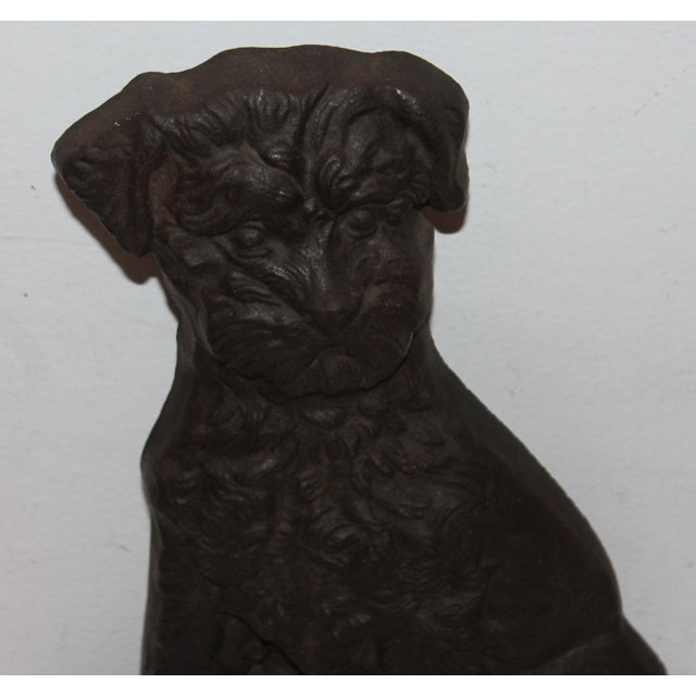 Monumental 19Thc Cast Iron Dog - Image 3 of 6