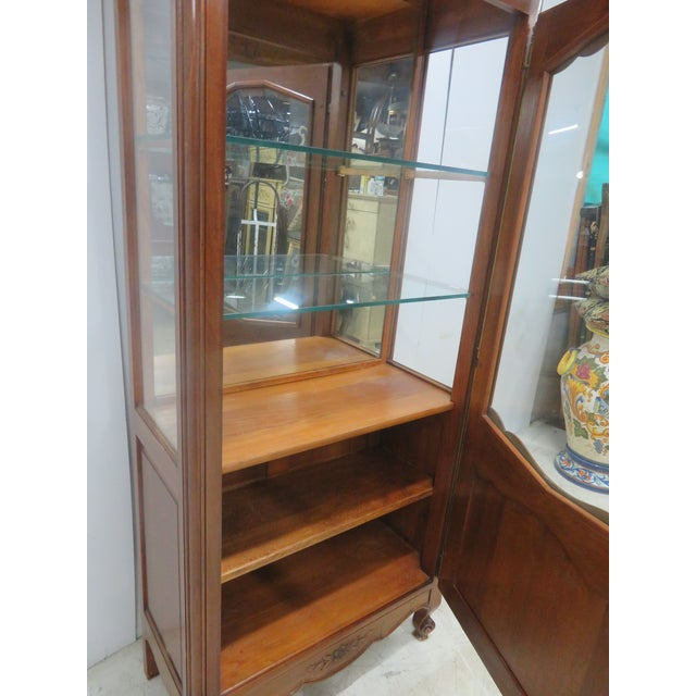 County French Cherry China Cabinet - Image 7 of 10