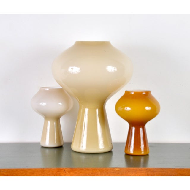 "Large ""Fungo"" Table Lamp by Massimo Vignelli for Venini, 1950s. Also shown are two of the smaller editions for size..."