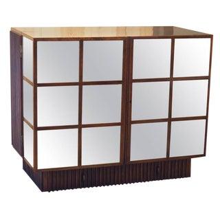 Mid-Century Modern Italian Mahogany Dry Bar Cabinet For Sale