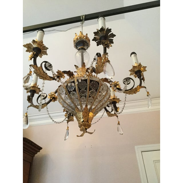 Iron Italian Crystal Flower Chandelier For Image 7 Of 9