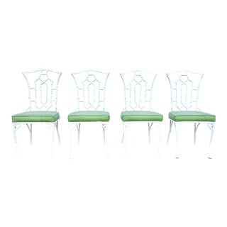 1970s Vintage Chinese Chippendale Dining Chairs- Set of 4 For Sale